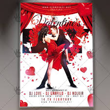 Valentines Flyers Valentines Day Party Seasonal Flyer Psd Template