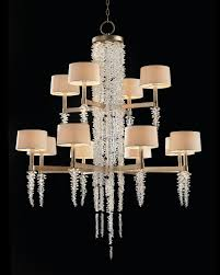 cascading crystal waterfall twelve light chandelier