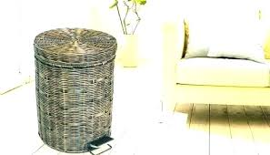 amazing patio trash can or wicker trash cans with lids outdoor wicker trash can wicker garbage