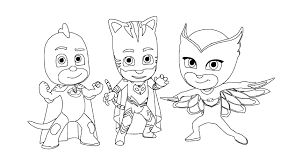 Small Picture PJ Masks Coloring Pages To Download And Print For Free In Style