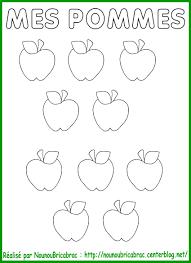 Pommes Colorier Et D Couper Pour Coller Dans Le Pommier Le