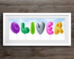 balloon alphabet childrens name art baby room decor personalised baby gift nursery on personal wall art baby name with balloon alphabet childrens name art baby room decor