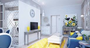 blue and yellow room decor ideas