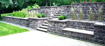 building a cinder block retaining wall view in gallery modern project without mortar