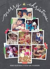 christmas card collage templates holiday photo collage card under fontanacountryinn com