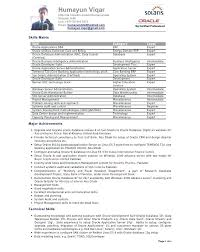 Sample Dba Resume Resumes Resume Format Download Database Delectable Teradata Resume Sample