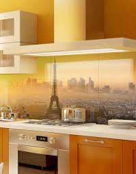 Kitchen Splashbacks Parisien Sunset Skyline Printed Acrylic Kitchen Splashback