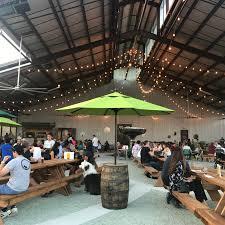 new saint arnold s beer garden offers food fun atmosphere art