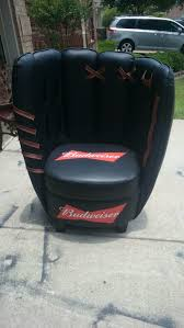 budweiser full size baseball glove chair about this sold