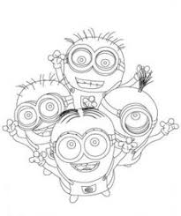 Small Picture Dave Happy Two Eyed Minion Coloring Page Minion Pinterest
