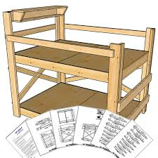 op bunkbed medium height full size bunk bed pine with plans