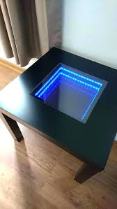 infinity mirror coffee table image 0 diy pleasant cof infinity melting cocktail coffee table