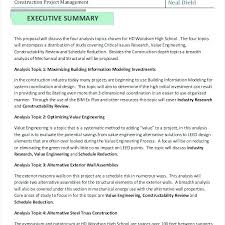 Executive Summary Sample For Proposal Executive Summary Business Case Sample Template Format Best
