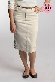 Cream Denim Skirt Mommy Things