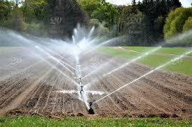 Irrigation System Sprinkler System Watering Crops Farm Land
