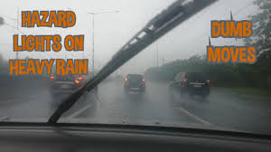 Hazard Lights In Rain Turning On Your Hazard Lights In Heavy Rain Is So Dumb