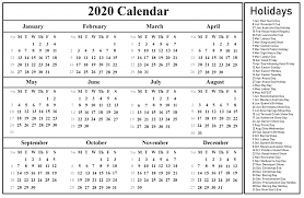 Printable Calendars 2020 With Holidays Printable Free Blank Australia 2020 Calendar Pdf Excel