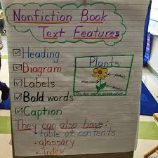29 Memorable Text And Graphic Features Anchor Chart
