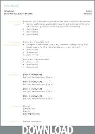 Resume Format Microsoft Curriculum Vitae Download In Ms Word Resume