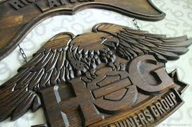 gifts for men handmade livemaster handmade sign eagle harley davidson gift