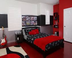 Small Black And White Bedroom Red And White Bedroom Walls