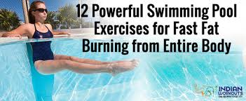 powerful swimming pool exercises for fast fat burning from entire body