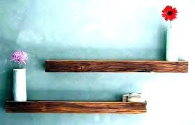 cherry wood wall shelf shelves mounted natural corner and ledges me floating log half cherry wood wall shelf