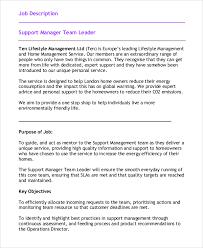 sample team leader job description 9 examples in word pdf copywriter job description