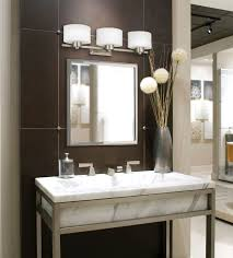 ... Wall Lights, Captivating Bathroom Lighting Over Mirror Standard Vanity  Light Height Brown Wall And Wall ...