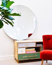 round clear wall mirror large oliver