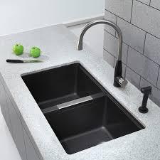 Black Undermount Kitchen Sinks Black Small Kitchen Sinks Quicuacom