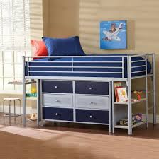 ... Kids Furniture, Bunk Beds With Dresser Bookcase Bunk Bed Bunk Bed Desk  Dresser Combo Blue ...