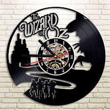1 piece set the wizard of oz vinyl record clock wall art home decor art on wizard of oz vinyl wall art with 1 piece set the wizard of oz vinyl record clock wall art home decor