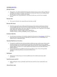 Resume Writing Resume Mail