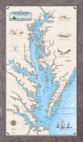 Upper Chesapeake Bay Chart The Original Chesapeake Bay Chart Nautical Art Art Prints