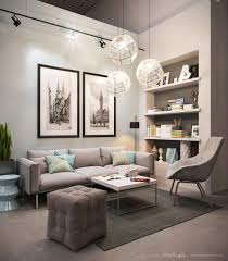 Relaxing Living Room Colors Living Room Gray Recliners White Shelves Gray Sofa Brown Chairs