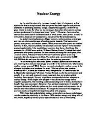 essay on nuclear power generation short essay on nuclear power