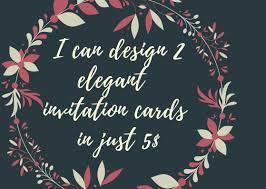 Elegant Invitation Cards 2 Design Elegant Invitation Card