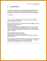 Executive Summary Sample For Proposal Executive Summary Template For Proposal