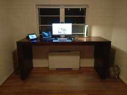 image of standing desk computer home