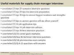 13 useful materials for supply chain manager supply chain manager cover letter