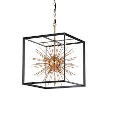 jahanna 6 light antique gold sputnik