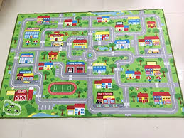 city street map kids rug with roads kids rug play mat with school hospital station