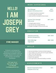Green Masculine Creative Resume
