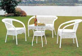 plastic white wicker patio furniture with bistro table