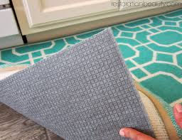 you can see that my rug actually came with a built in rug pad that was obviously intended to grip to the floor with all those grooves