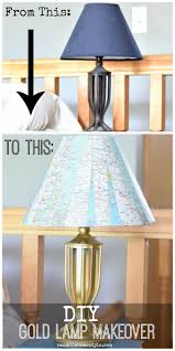 a dark boring lamp gets a fun diy makeover