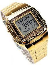 casio gold watch men casio men s gold tone data bank watch db360g 9a