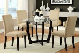 round glass dining table set for 4 hot furniture for home interior decoration with various glass