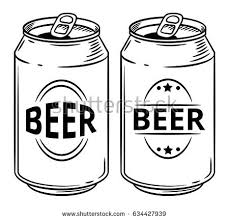 crushed can clipart. vector illustration beer can isolated on white background. hand drawn style sketch. for restaurant crushed clipart